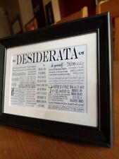 Desiderata Framed Verse