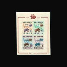 Indonesia, Sc #65c, Imp, RIS Merdecka ovpt, MNH, 1949, S/S, UPU Centenary, FAUNA
