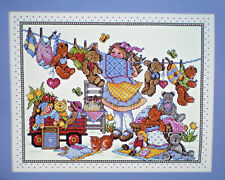 "Joan Elliott Teddies On The Line ""Out To Dry"" Counted Cross Stitch Kit"