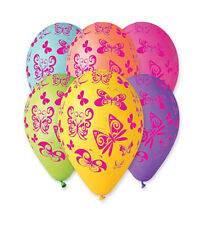 "Butterfly Balloons New Print 30cm-12"" Assorted Colours 10pcs Helium/ Air Quality"