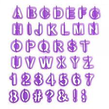 40pcs Alphabet Number Letter Fondant Cake Decorating Set Icing Cutter Mold Mould