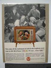 RCA Victor Color TV Vintage Advertisement 1965, featuring Bonanza