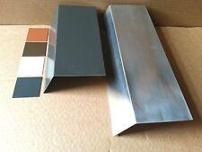 1m Traufblech Rinneneinhang Einlaufblech Alu Aluminium Farbig oder Natur 0,8 mm
