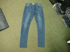 "Liquor & Poker Skinny Jeans Taille 32"" Jambe 32"" Délavé Bleu Foncé Jean Homme"