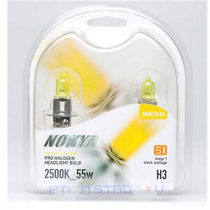 H3 Nokya Hyper Yellow Headlight Fog Light Bulb S1 NOK7615 Halogen Bulb