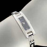 Gucci Stainless Steel 3900L Quartz Ladies Watch Black Guilloche Dial