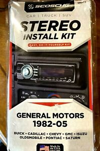 Scosche GM1504 Stereo Install Kit GM 1982-05 GM Buick Cadillac Chevy GMC Olds