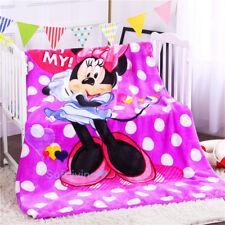 Soft Warm Thick Plush Flannel Bedding Sleep Blanket Flat 150X200 Minnie Mouse