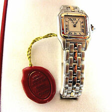 Cartier Panthere 84083241 Yellow Gold and Stainless Steel Watch Comes With Box