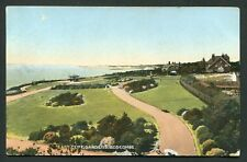East Cliff Gardens Boscombe old vintage postcard