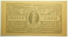 1927 Mexico Contribucion Conquista Libertad 20 Centavos UNC #11836