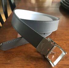 Nike Women's Rhinestone Harness Reversible Belt, Gray/White Leather Nwot Sz M
