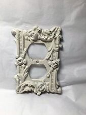 Double Outlet Switch Wall Electrical Cover Victorian Style Edmar ? Brass Bronze