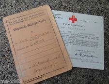 original WH Fahrlehrerschein + Ausweis Hilfskrankenträger 1944