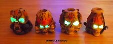 Lot Of 4 Skull Glow In Dark Cigarette Snuffers-Hand Painted-Colorful-NICE