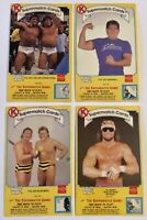 Lot Of (4) 1987 WWF Circle K Coca Cola Supermatch Wrestling Cards