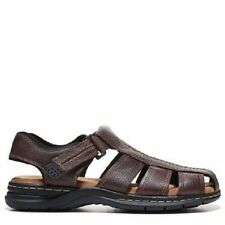 Dr Scholl's Camden Fisherman Sandals Men's Brown Leather Size 11