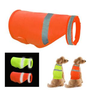 High Visibility Safety Dog Jacket Vest Walking Coat Hi Vis Viz Summer Breathable