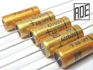 47uF- 63V ROE axial EB Series Audio Grade Electrolytic capacitors  x 5 PIECES