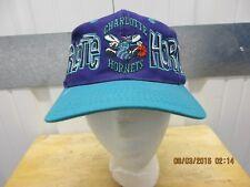VINTAGE DREW PEARSON NBA CHARLOTTE HORNETS SEWN PURPLE/TEAL 90s SNAPBACK CAP