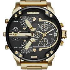 NEW DIESEL DZ7333 Watch Daddy Chrono OverSized unisex S Steel Strap MEN Women!
