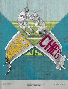 1973 Hartford Knights vs. Long Island Chiefs ACFL Football Program #FWIL