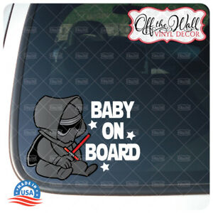 """Baby Kylo-Ren Character """"Baby, Kid, or Kids on Board"""" BUYERS CHOICE - Sign"""
