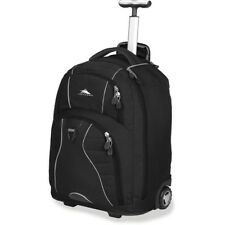Backpack With Wheels Laptop Book Bag Black Rolling Luggage School College Travel
