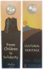 Malta 2 euros 2018 conm. Patrimonio Cultural en coincard - con marca de ceca.