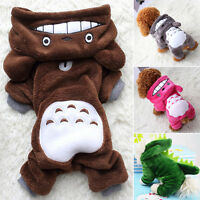 Winter Hoodies Jacket Warm Totoro Costume Pet Clothes For Dog Puppy Cat Sweater