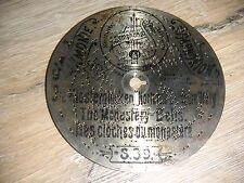 """Il monastero campane SYMPHONION piastra di lamiera 11,5cm JUNGHANS Automaton 4 1/2"""" Disc"""