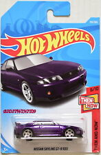 HOT WHEELS 2018 THEN AND NOW NISSAN SKYLINE GT-R R33 #6/10 PURPLE