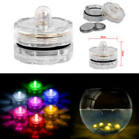 12 LED Candles Light Up Tea Lights Submersible Vase Wedding Party Fish Decors