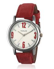 Texus(TXMW004) Red Strap Watch for Men/Boys