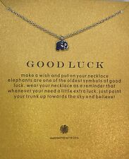 Lucky Elephant Pendant Necklace with a Good Luck card Silver