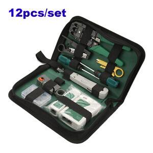 RJ45 RJ11 RJ12 Cat6 LAN Network Hand Tool Cable Tester Crimp Crimper Plier Kits