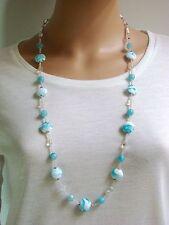 Handgefertigte runde Modeschmuck-Halsketten & -Anhänger aus Perlen