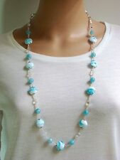 Handgefertigte versilberte Modeschmuck-Halsketten aus Perlen