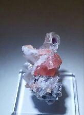 ***WOW-Pink Rhodochrosite crystal Quartz ps. Purple Fluorite, Sweet Home Mine***