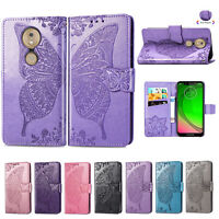 For Motorola Moto G7 Power/Z4 Play/P40 Leather Flip Card Slot Wallet Case Cover