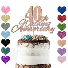 Personalise Any Year Wedding Anniversary Cake Topper Decoration 10th 20 30 40 50