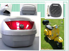 Universal Strong TopBox, 0807-Motorcycle-Bikes-Scooter-Moped-Trike 34L.Silver