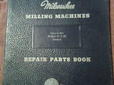 Kearney Amp Trecker Milwaukee Models 2k Amp 3k Vertical Mill Repair Parts Book