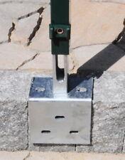Winkelplatte Fußplatte Adapter  60/40 mm Doppelstab Pfosten Zäune Gitterzaun fvz