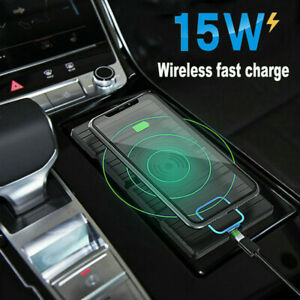 15W Car Mount Qi Wireless Charger Phone Pad Holder Fast Charging For IOS/Android
