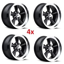 17 MAGS U1107 GLOSS BLACK 5X120.7 5X4.75 4 WHEELS RIMS SET FOOSE AMERICAN MUSCLE