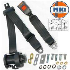 Mk1 Golf Gti Hatch Rear 4 Point Automatic Lap & Diagonal Seat Belt Kit Black