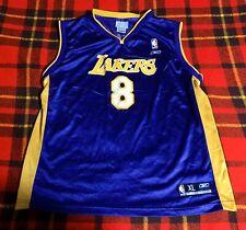 Vintage LA Los Angeles Lakers Kobe Bryant #8 Reebok Jersey Kids Sz XL 18/20 NBA