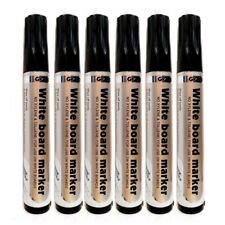 6 Quality Jumbo Whiteboard Marker Drywipe Flipchart Whiteboard Black Markers Pen