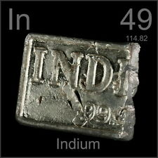 50g/1.76oz High Purity 99.995% Pure Indium In Metal Bar Blocks Plate Ingots GH